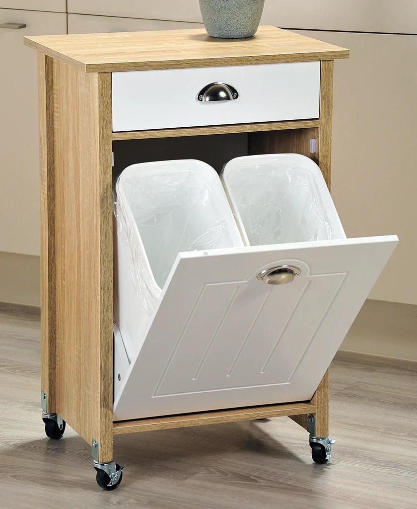 kitchen work station small floor tile ideas recycle 2 bin the organised store
