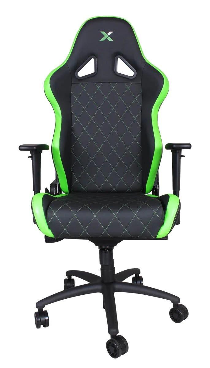 xl desk chair bamboo papasan ferrino green on black rapidx