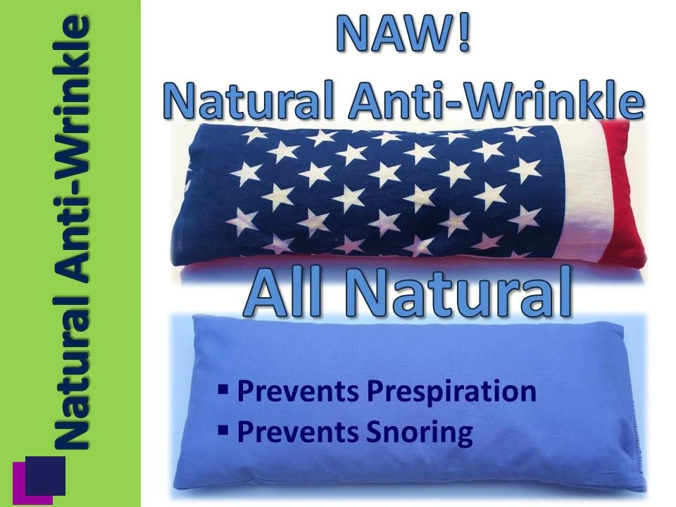 naw natural anti wrinkle neck pillow w cover