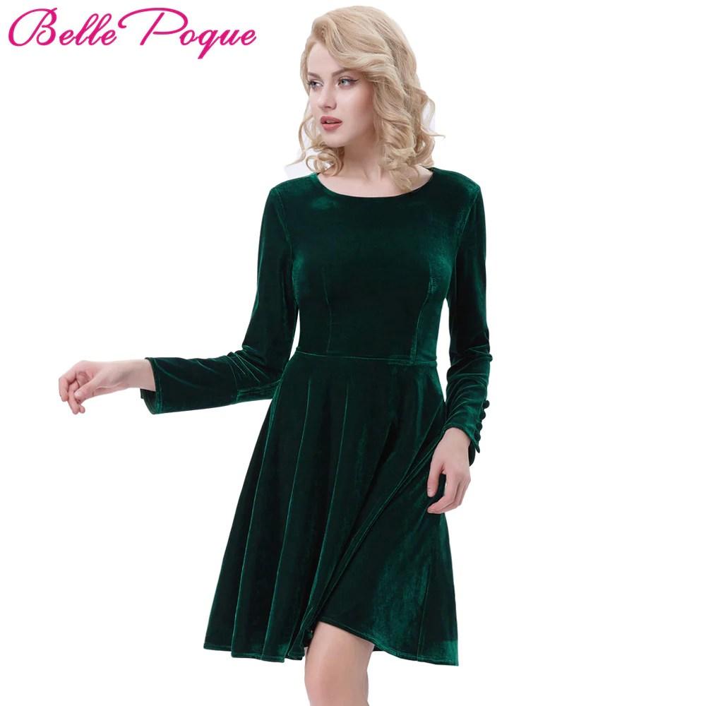 Winter Velvet Dresses for Women