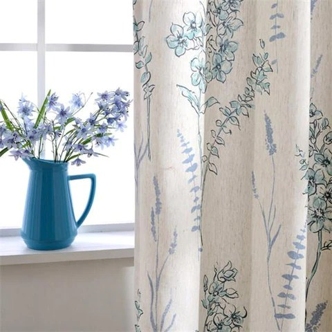 luxury fancy linen curtains for living