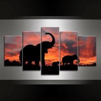 5 Piece Elephant Luangwa Canvas Wall Art - GearEarth