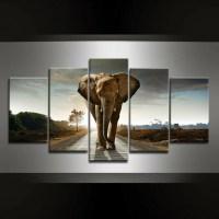 5 Piece Elephant Canvas Wall Art - GearEarth