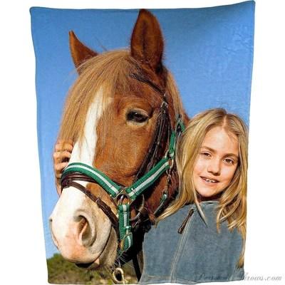 Plush fleece Photo Blanket-60