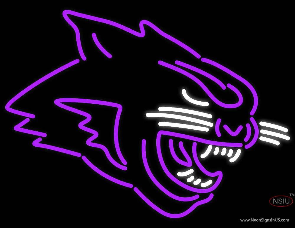 Abilene Christian Wildcats Partial Pres Logo NCAA Neon