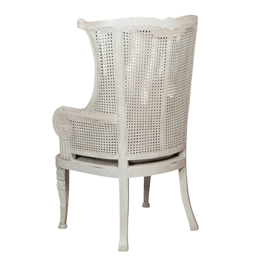 Wing Back Chairs Caned Wing Back Chair