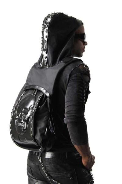 Skull Hoodie Backpack  IWantItSoBad