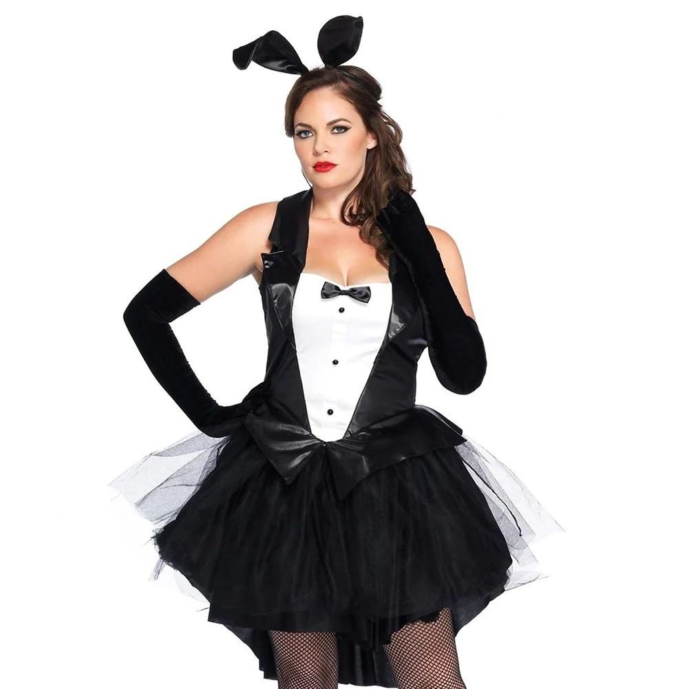 Halloween Women' Costume Dress 3 Piece Sexy Tux And Tails Bunnytuxed Thekingwarehouse