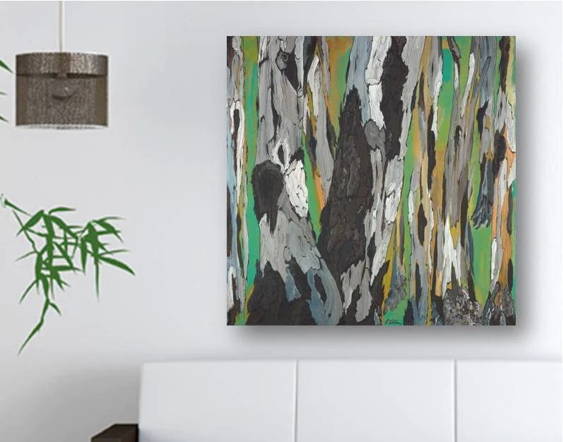 nice art for living room fireplaces pictures large green masculine wall abstract modern canvas shoa gallery square print tree artwork decor