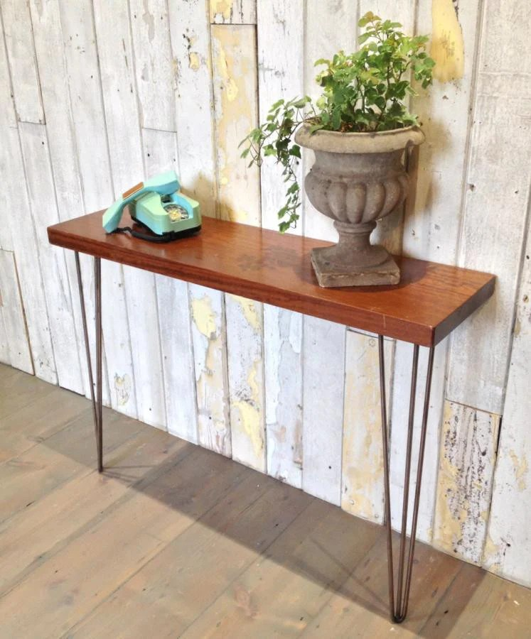 teak sofa table modern classic console the architectural forum midcentury style vintage