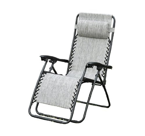 zero gravity pool chairs ergonomic operator chair outsunny recliner lounge patio granite gray