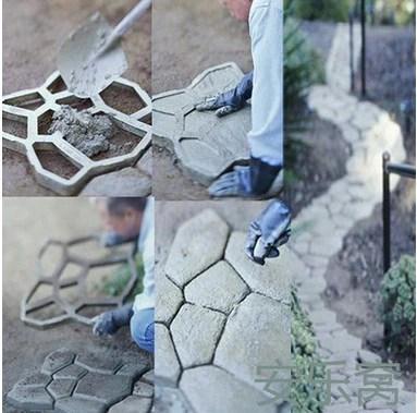 Garden paving plastic mold for garden concrete molds for