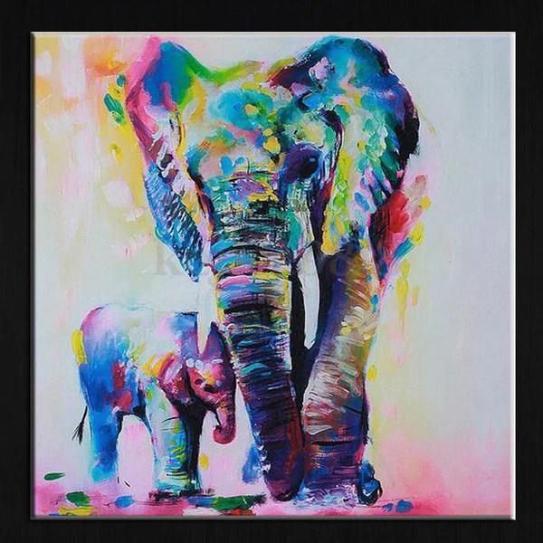 watercolor elephant inkjet frameless