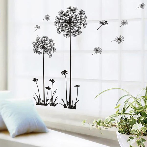 wall stickers living room how to set a ideas black beautiful dandelion bedroom dream of f luxberra