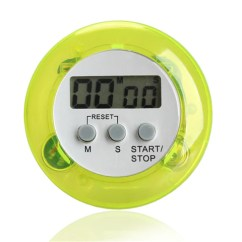 Digital Kitchen Timers Small Renovation 5 Color Alarm Clock Round Magnetic Lcd Countdown Timer With Stand