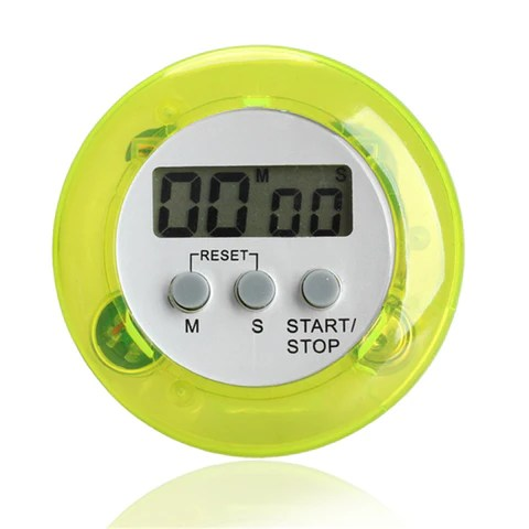 digital kitchen timers drop in stainless steel sink 5 color alarm clock round magnetic lcd countdown timer with stand