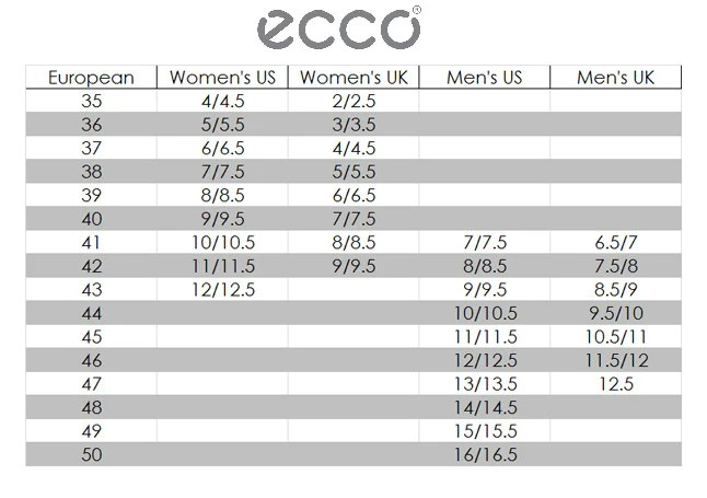 also ecco size chart outdoor equipped rh outdoorequipped