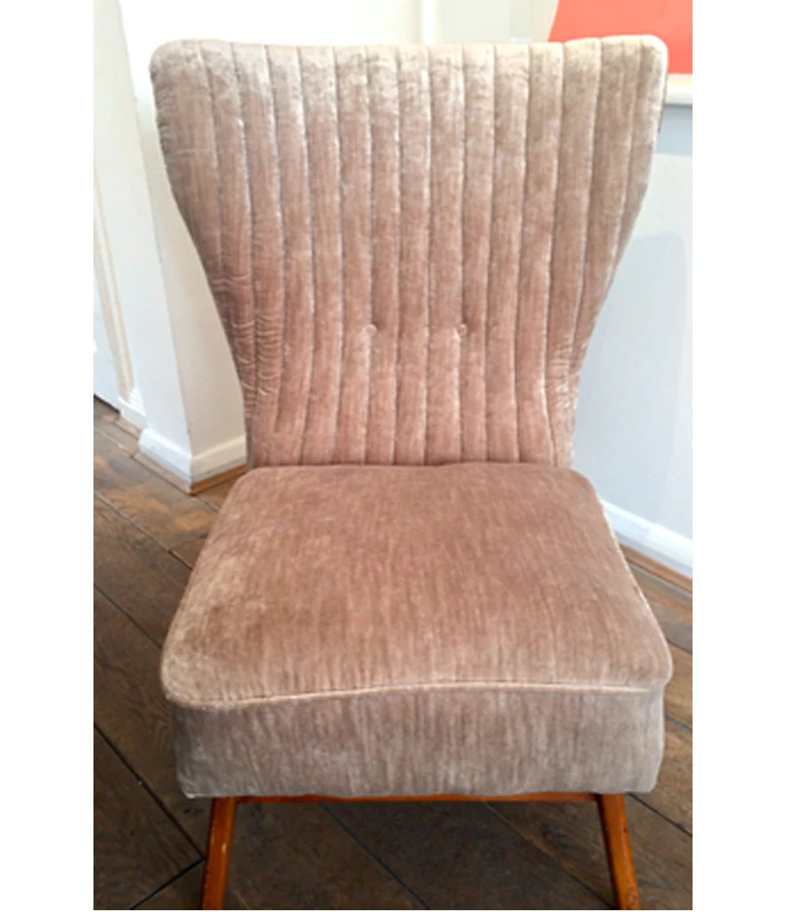 Velvet Slipper Chair Italia Slipper Chair In Mushroom Velvet