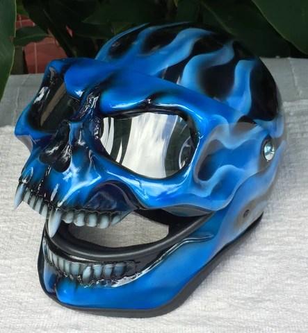 blue fire skull flip