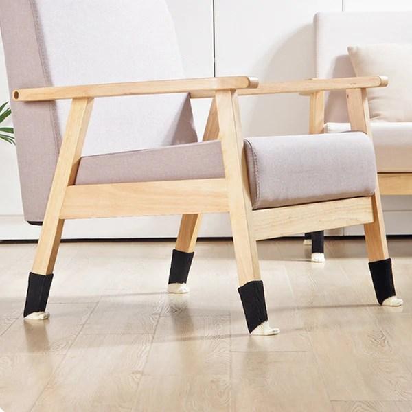 folding chair leg covers modern windsor cat feet gearazo set of 4