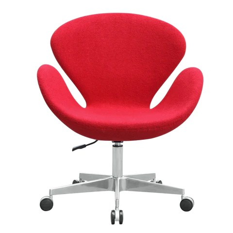 arne jacobsen swan chair upholstered side chairs replica fabric with casters designer