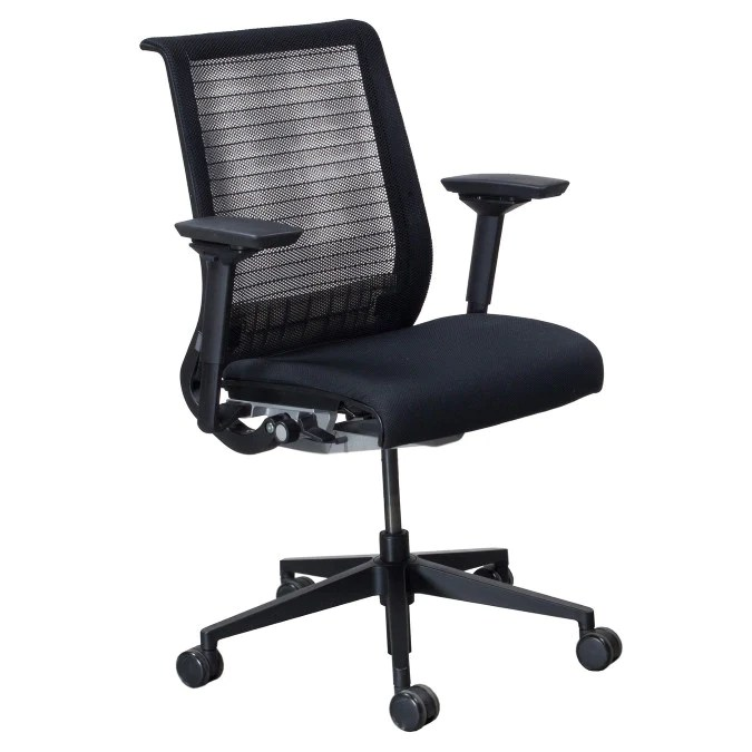 Steelcase Think Chair  Fully Adjustable  Black Mesh
