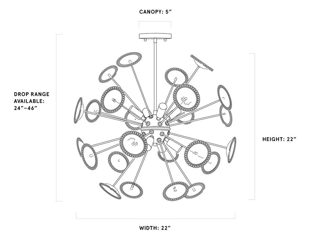 hight resolution of allium chandelier
