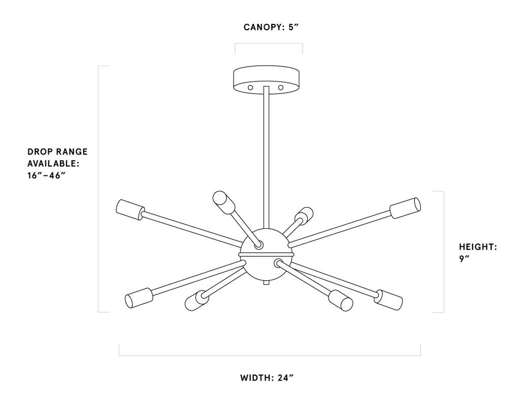 hight resolution of meridian sputnik chandelier