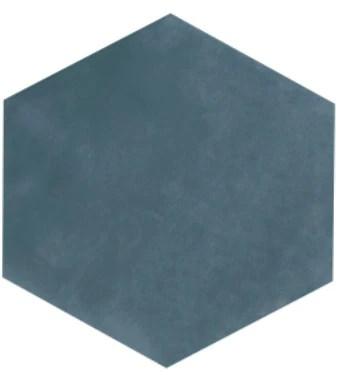 maiolica steel blue hexagon ceramic tile