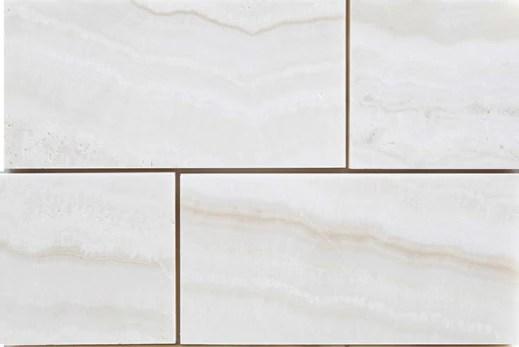 white onyx tile polished