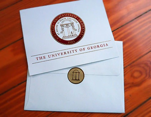 uga graduation announcement red