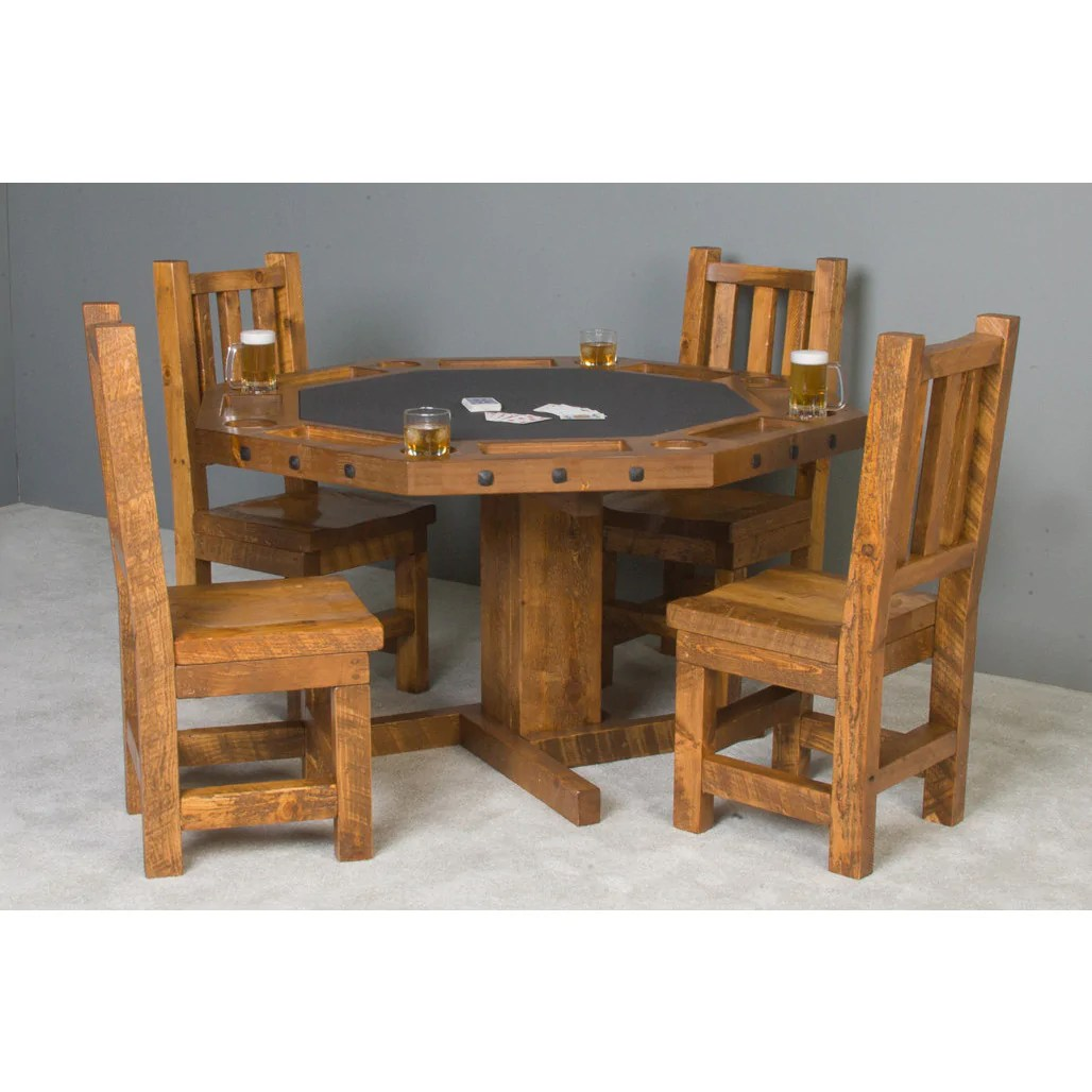 Log Table And Chairs Convertible Poker And Dining Table Serrengetti By Darafeev