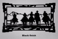 Western metal art silhouettes southwest cowboy and cowgirl ...