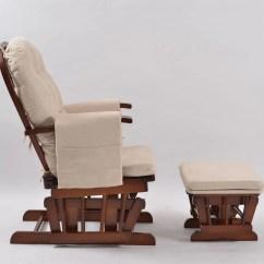 Childcare Glider Rocking Chair Ottoman Walnut Bedroom Amart Baby Breast Feeding Sliding With