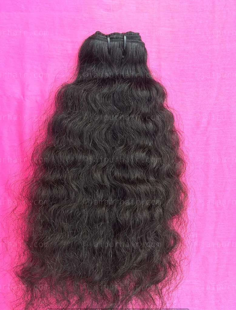 raw curly hair indian
