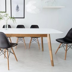 Eames Style Plastic Chair Hydraulic Recline Barber Dining With Wooden Legs Jeeaa Com