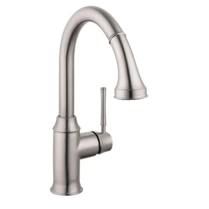 stainless kitchen faucet country style curtains hansgrohe talis c 2 spray pull down prep in steel