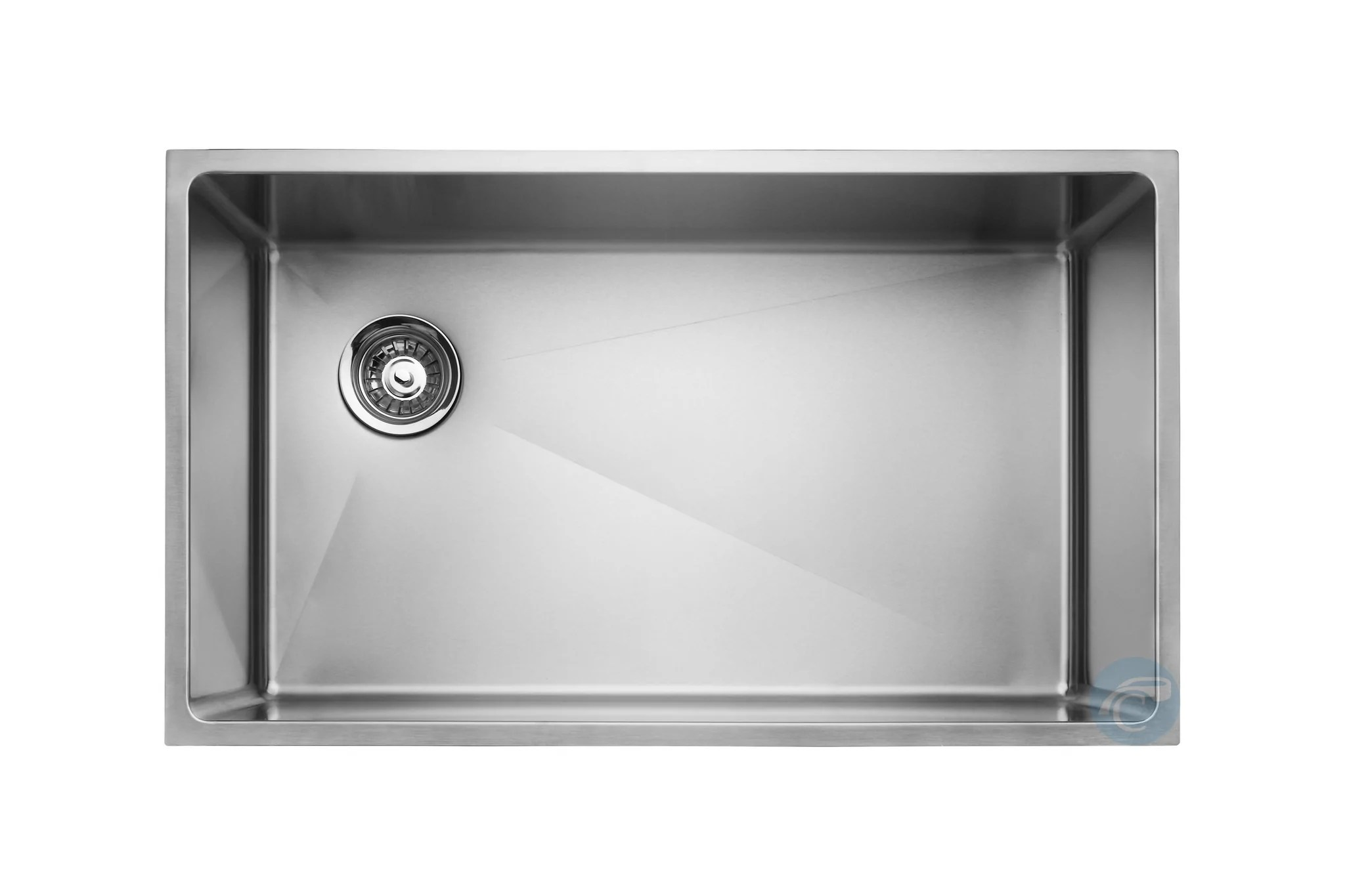 kitchen drain wall mounted cabinets master chef amiens single bowl undermount sink with on r chariot wholesale