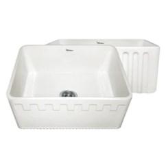 24 Kitchen Sink Islands For Sale Whitehaus Whflatn2418 Fireclay Apron Front In Biscuit
