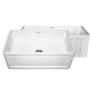 30 kitchen sink knife set whitehaus whflcon3018 fireclay apron front in white