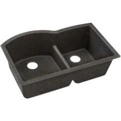 Elkay Kitchen Sinks Pantries For Sale Quartz Classic 33 X 22 10 Offset 60 40 Double Bowl