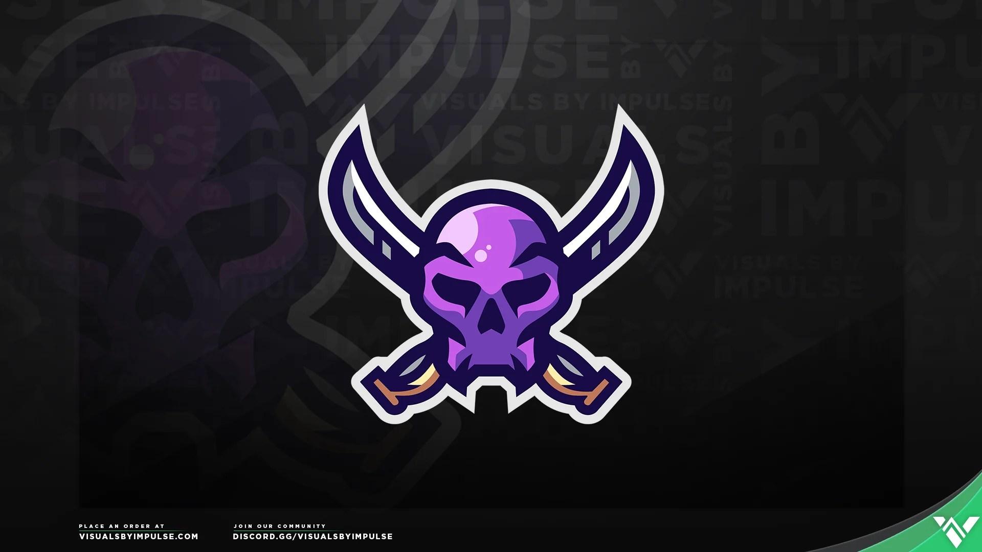 swordsman s skull mascot