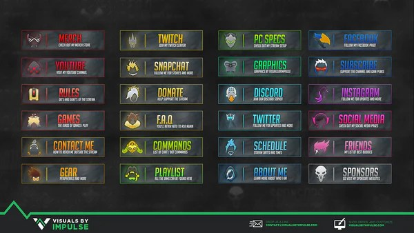 Overwatch Twitch Panels Visuals By Impulse