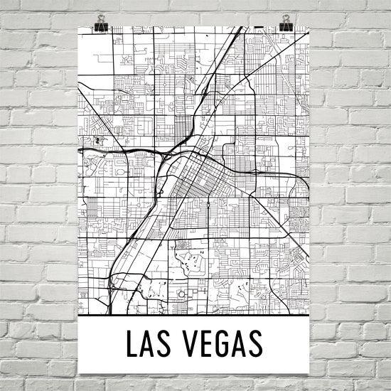 las vegas nv street map poster