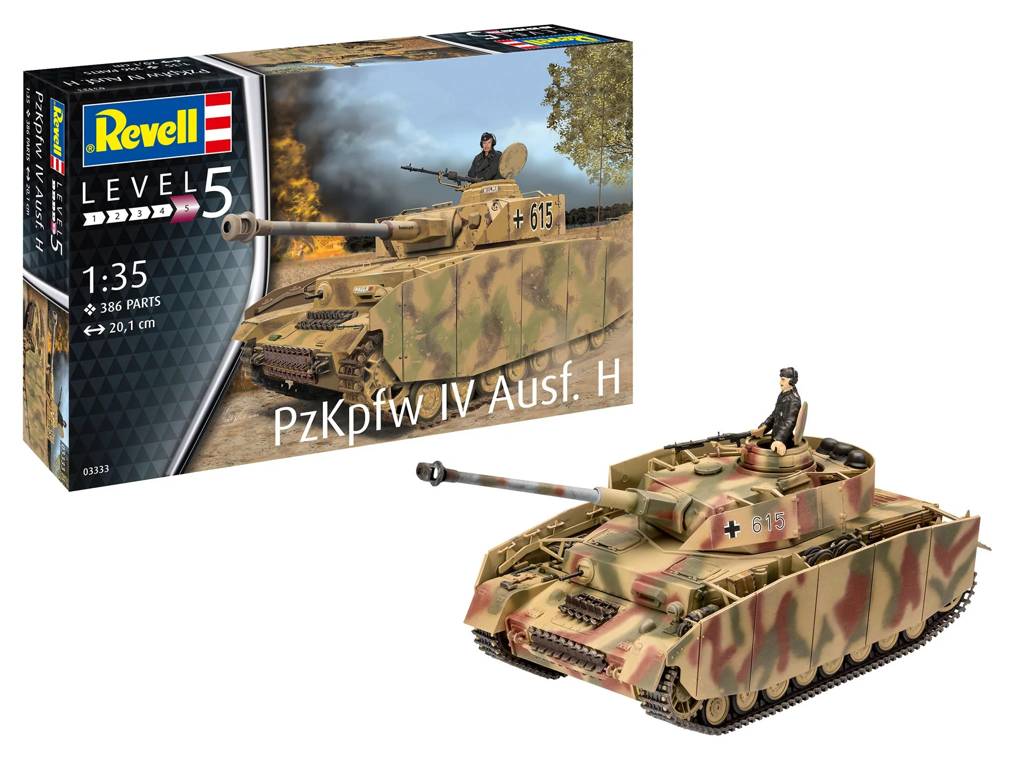 Revell Germany Military 1/35 Panzer IV Ausf H Tank Kit | Internet Hobbies