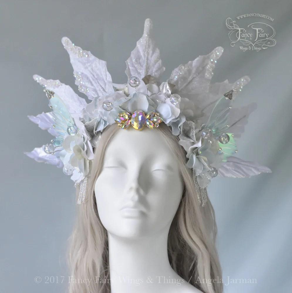 Winter Fairy Queen Headdress Fancy Wings &