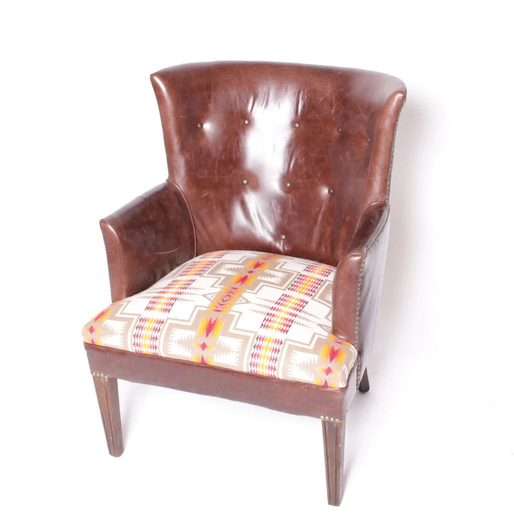 Brown Leather Chairs Pendleton Brown Leather Chair