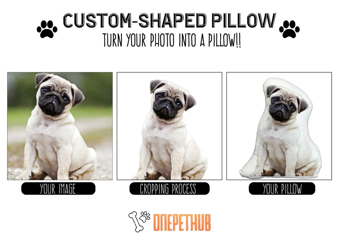 personalized dog picture pillow