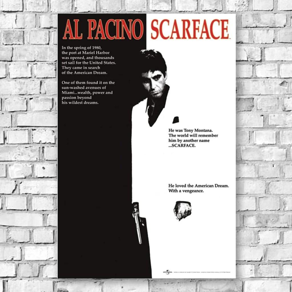 scarface movie replica maxi poster