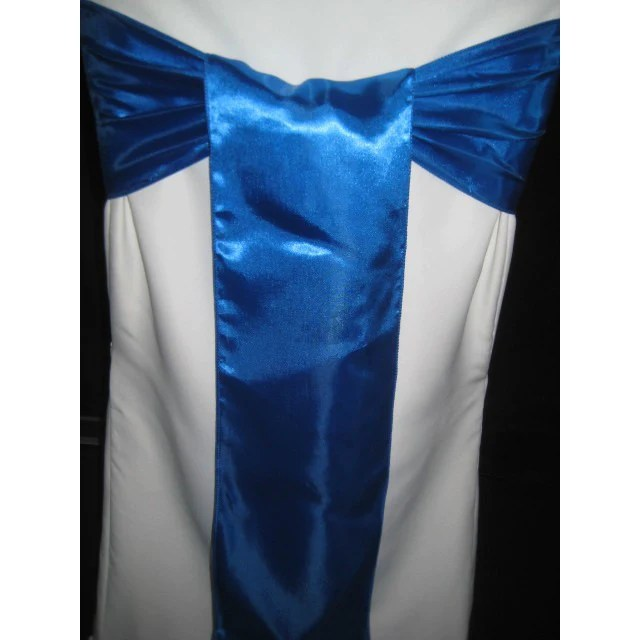 royal blue chair covers chaise lounge patio satin sashes bows and bands caps tie backs sash pack of 10 wholesale wedding l party